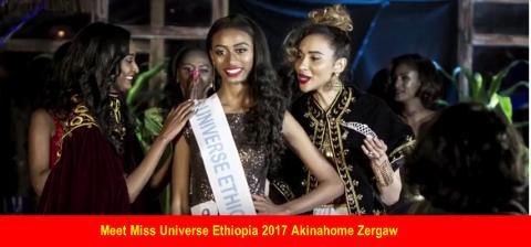 Miss Universe Ethiopia 2017 Akinahome Zergaw