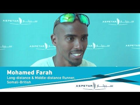 Mohamed Farah, British Long-distance And Middle-distance Runner.
